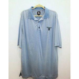 Footjoy XL Blue Robert Trent Jones Golf Trail Polo